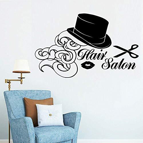 Peluquería arte tatuajes de pared mujer tijeras de peluquería pegatinas de pared vinilo impermeable peluquería peluquería decoración cartel