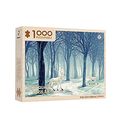 Puzzle 1000 Teile Landschaft, Puzzle für Erwachsene Kinder, Puzzle Erwachsene anspruchsvoll, Puzzleteile für Erwachsenenpuzzle 1000-teiliges, Festival Geschenk für die ganze Familie