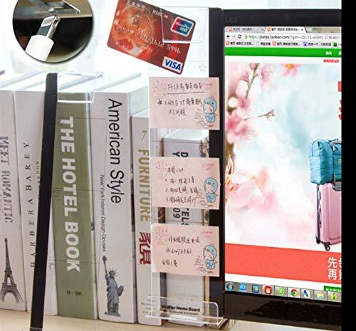 パソコンディスプレイ用 メッセージボード (1個入り 左側)アクリル 透明ボード 携帯立てスタンド ルーラー 貼り付けボード メモスタンド 伝言板 多機能 パソコン収納 スマホホルダー 机収納