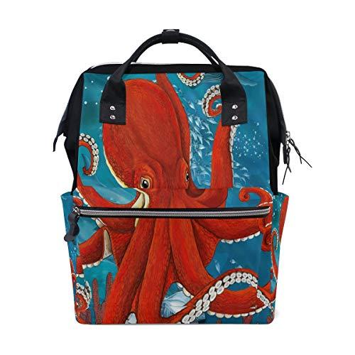 Sweet grape Ocean Red Octopus Kraken Fish - Bolsa de viaje multifunción