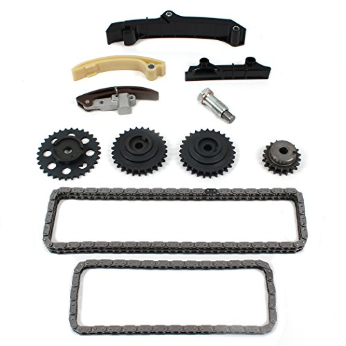 New Timing Chain Gear Tensioner Kit w/DOUBLE Wide Upper Chain Compatible with 95-97 VOLKSWAGEN 2.8L 2792cc V6 SOHC (12-Valve), VR6'AAA' Engine