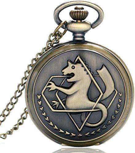LUNAH Taschenuhr Halskette Vintage Quarz Taschenuhr Halskette Mode Männer Frauen Uhren Uhr Anime Jungen Mädchen Kinder Geschenke Uhr Uhr