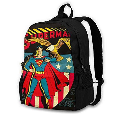 Superhéroe Kirk Alyn Liga de la Justicia DC Universo Superman Tablet Mochila ligera mochila hombres mujeres turismo viajes impresión 3D Pascua