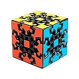 HJXDtech - KSZ clásico Cubo de 3x3x3 de Engranajes la Velocidad Pegatina Cubo mágico Irregulares (Negro)