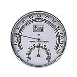 Hygromètre de sauna Cave A Vin Thermomètre de sauna 2 en 1 Boîtier en métal Cadran exquis Mesure de l'humidité de la température Thermomètre de sauna Hygromètre pour maisons Bureaux Ateliers