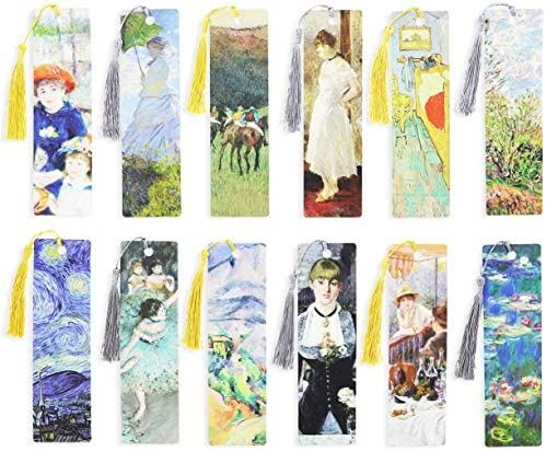 Tassel Bookmarks Impressionist Art 7 x 2 in 24 Pack product image