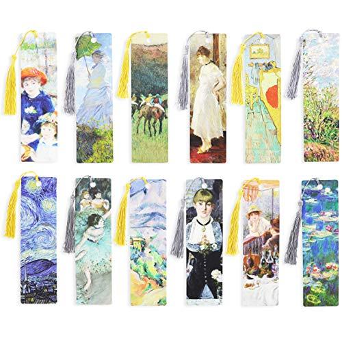 Tassel Bookmarks, Impressionist Art (7 x 2 in, 24 Pack)