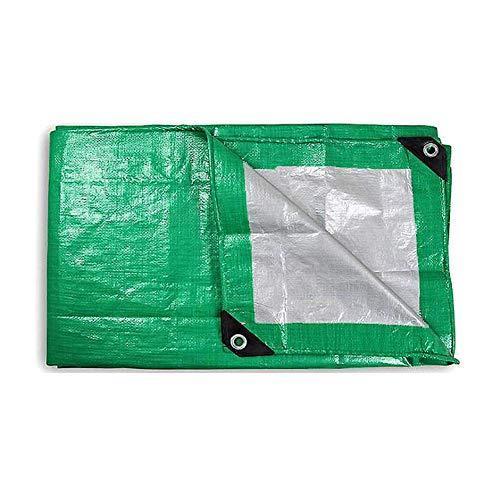 MTYLX Lona Grande Resistente, Lonas, Pe Lona Liviana de 140 G / M2 Lona para Acampar Lona Impermeable Antienvejecimiento Lonas Cubiertas para Cultivos Al Aire Libre,Verde Plateado,3X4M