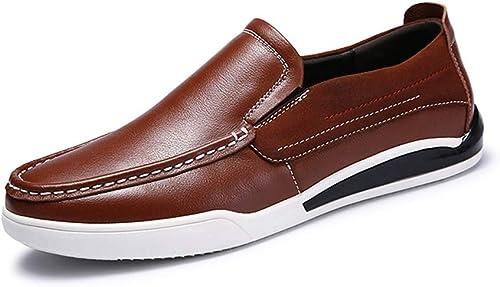 2019 richelieus homme, Chaussures Oxford Oxford Oxford Chaussures Hommes Noir Semelle En Caoutchouc Chaussures Oxford Pour Hommes Formelle Chaussures D'affaires Slip On Style OX En Cuir Simple Couleur Pure Mode Bri a40