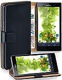 MoEx Funda Cartera [protección 360°] Compatible con Sony Xperia Z2 | Cierre magnético, Noir