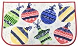 Holiday Rug Non-Skid Floor Mat, Christmas Designs, Comfortable Standing and Entrance Rug, 17' x 28', Ornaments