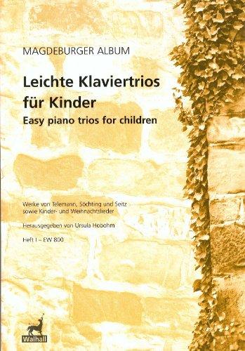 Lichte pianotrio voor kinderen. Werken van Telemann, Söchting en zijz en kinder- en kerstlieden. Schrift I (feestje en stemmen).
