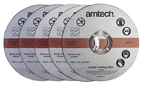 Amtech Am-Tech V1042 1,2 x 115 mm Disques à tronçonner en métal – Rouge (5 pièces), Red