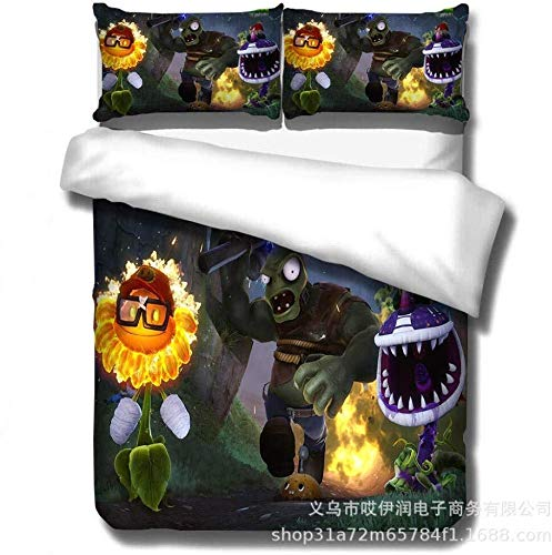 LRZLZY Bed Jackets For Women,3D Digital Printed Plant And Zombie Bedding Set, Duvet Cover And Pillowcase For Bedroom, Children'S Room, Apartment@H_(200 * 230Cm) 3Pcs Shower Head Powerful Flow