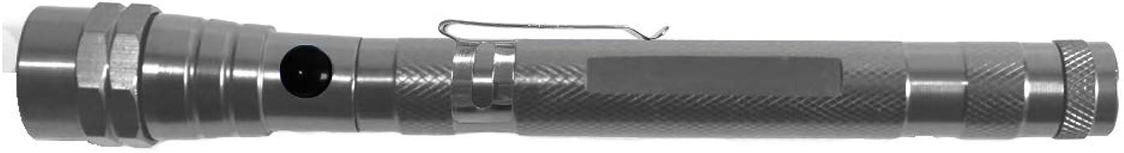 Projects Flexibele LED zaklamp met magneet uittrekbaar waterdicht 'Magic Light' grijs | super heldere telescopische zaklam...