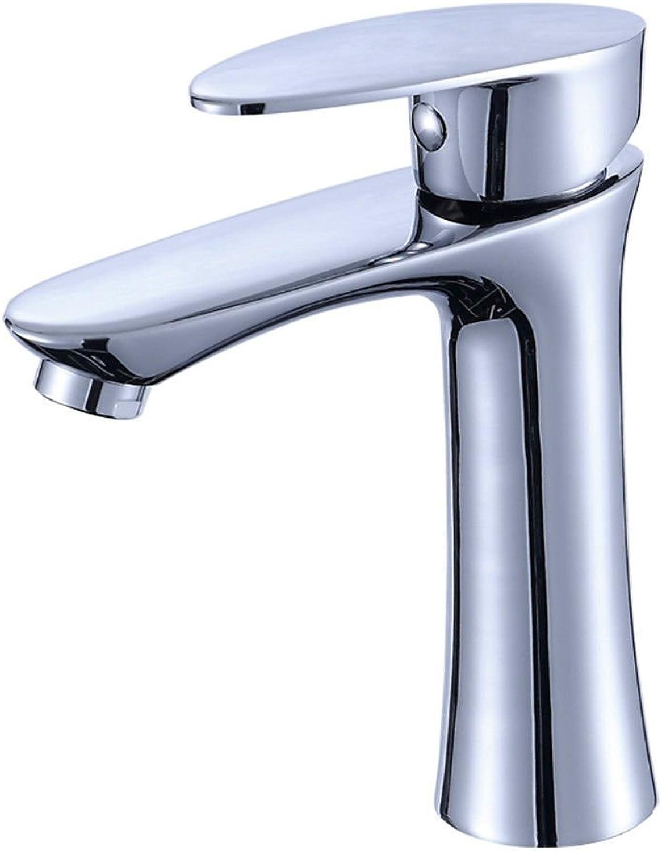 ETERNAL QUALITY Badezimmer Wasserhahn Messing Hahn Waschraum Mischer Eine kalte Wasseranschlu Fingertipp Waschtischmischer Hand Waschtisch Armatur Waschtisch Armatur Küchenspüle A