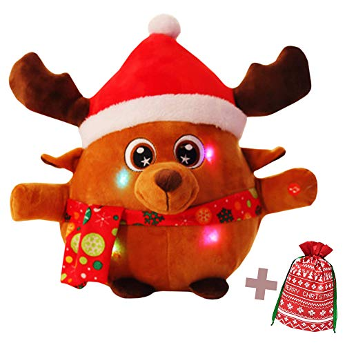 Jacafry Rudolph Light-Up Toy Plush with...