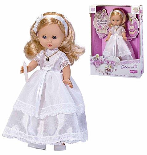 Rosa Toys- Muñeca Vestida de Primera Comunión Rubia con Vela, Multicolor (4292)