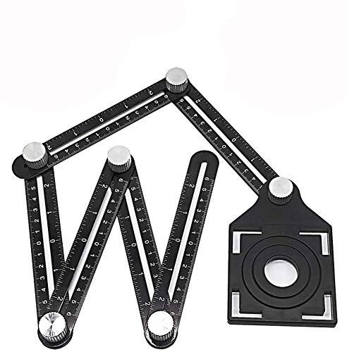 Aluminum alloy metal six-fold angle gauge angle finder multi-angle template universal angler ruler folding ruler angle copier shape arbitrary angle tile glass opening positioning