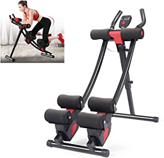 Abdominal Trainers Abdominal Workout Machine,Collapsible Sit-Up Exerciser Home Ab Trainer with LCD Display