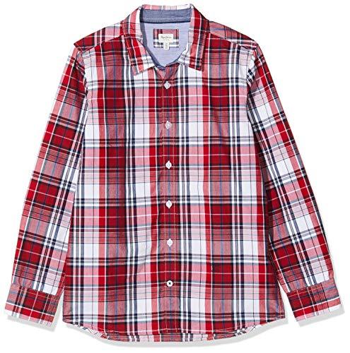 Pepe Jeans Jungen Hemd Cedric, Rot (Berry Red 280), 3-4 Jahre (Herstellergröße: 4y/104)