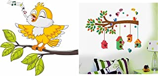 Decals Design 'Singing Bird Tweety' Wall Sticker& ' Bird House on a Branch' Wall Sticker