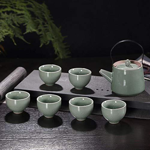 QCCOKNN - Juego de té de Porcelana y Taza de Agua, Juego de té de cerámica, Tetera, Tetera, hervidor de Agua, Juego de té y Utensilios para el hogar