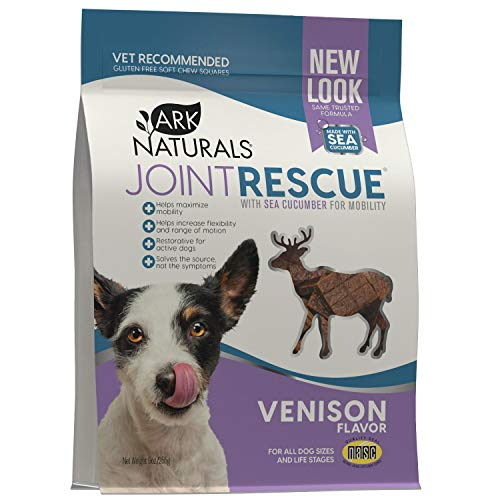 Ark Naturals Sea Mobility Joint Rescue Dog Treats  Venison Flavor  Joint Supplement with Glucosamine & Chondroitin  1 Pack