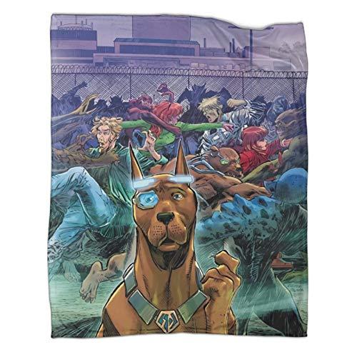 Xaviera Doherty Scooby DooJoy Limited (4) doppelseitige Flanelldecke, 100 x 130 cm, weiche und bequeme Bettdecke, Kinderbettwäsche