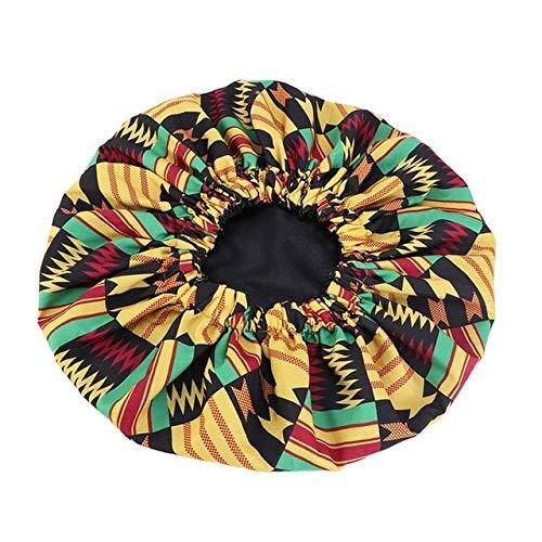 New Extra Large Satin Lined Bonnet Women Big Size Beauty Print Satin Bonnet Sleep Night Cap Head Cover Bonnet Hat-style454-2
