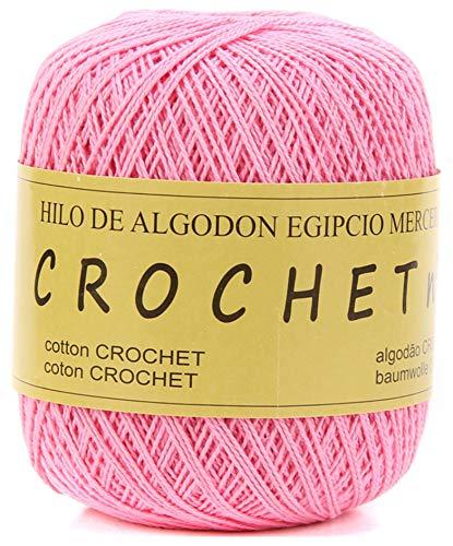 Hilo de Algodon para Tejer Crochet Ganchillo o Punto Torrijo PERLE XXL No 8 70g, Ovillo de algodón...