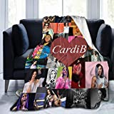xiaoxiaoshen Cardi B, Flannel, Blanket, Lightweight and Super Soft Living Room Sofa, 50x40 Inches