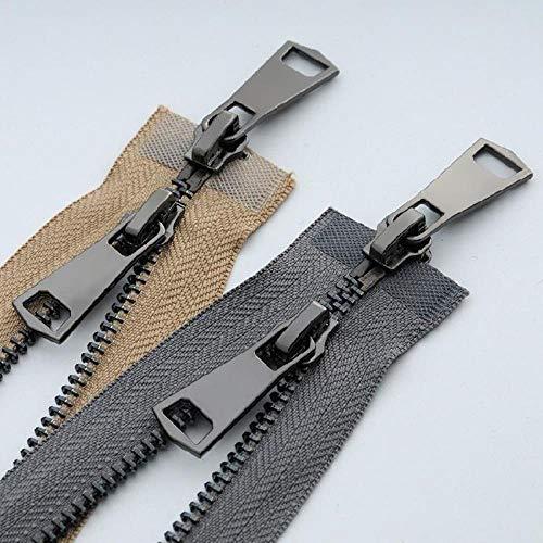 SONGGUO Zip Metall Kupfer Reißverschluss Helle Pistole Zähne High-End-Lederjacke Kleidung Eisen Zähne Doppel Zwei-Wege-Reißverschluss geleitet,Marine
