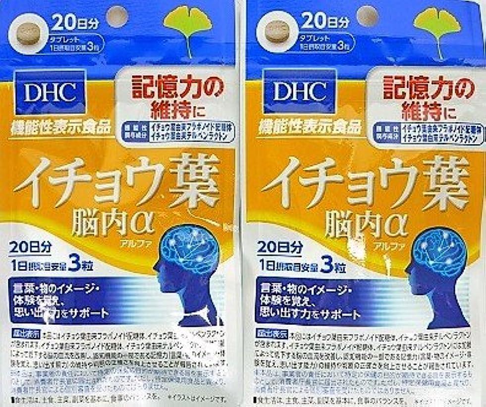 兄近代化オピエート[2個セット]DHC イチョウ葉 脳内α 20日分 60粒入り×2個
