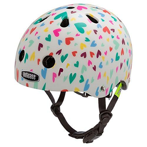 Nutcase Kinder Baby Nutty - Happy Hearts Helm, Mehrfarbig