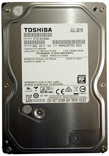 Toshiba DT01ACA050–500GB SATA 6Gb/s 7200rpm 3.5HDD