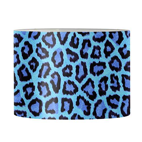 UOIMAG Lampshades - Pantalla para lámpara de escritorio, diseño de leopardo, color azul