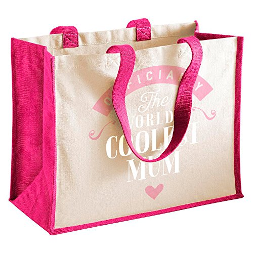 Mum Coffret cadeau, Mum, sac cadeau personnalisé Mum Coffret cadeau, maman, maman, Souvenir Mum, cadeaux, maman Mum Funny, cadeaux, cadeaux de Fille, Mum, sac, sac shopping, Tissu, fuchsia, 42 x 33 x 19cm