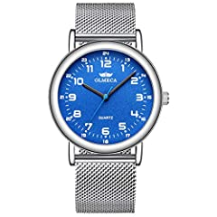 ★SIMPLE STYLE DESIGN★ Minimalist dial with classic hands, 12 hour shows, It is a simple style watch suitable for all occasions, whatever casual style at the daily or dress style at the appointment, etc. ★PRECISE TIME KEEPING★ High quality quartz move...