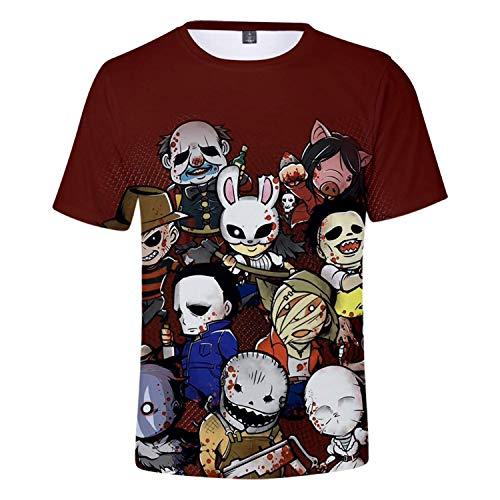 AIUIE Dead by Day-Light Unisex 3D Digitaldruck Rundhals T-Shirt Top Weste L