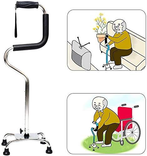 步行手杖高度可调轻量级稳定4 Tips拐杖自我…