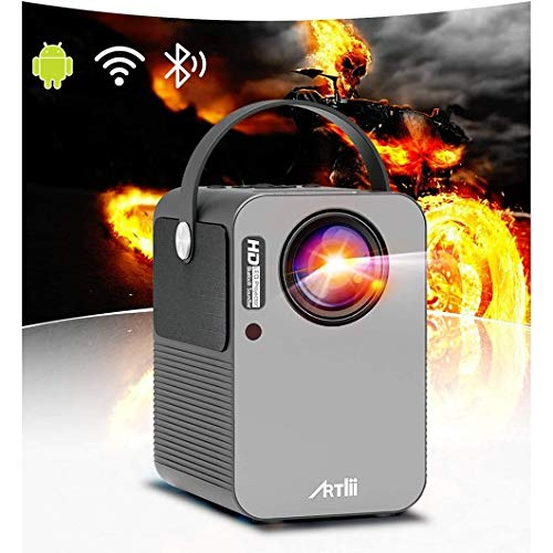 Portable Projector - Artlii Play Android TV 9.0 Smart WiFi Bluetooth Projector, ±45°4D Keystone Correction, HiFi Dolby Stereo, HD Projector for Home Entertainment