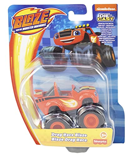 Fisher-Price Mattel – CGF20 – Blaze and The Monster Machines – Drag Race Blaze – Die-Cast Spielauto, 8 cm