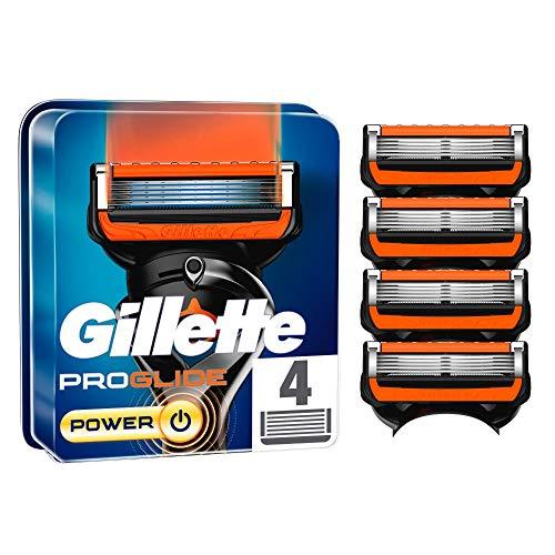 Gillette ProGlide Power Rasierklingen für Männer, 4 Stück, mit 5 Anti-Irritations-Klingen, für eine gründliche und lang anhaltende Rasur