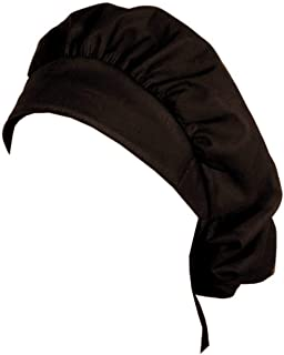 Banded Bouffant Medical Scrub Cap - Black