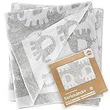 Fillikid Manta para bebé Elefantes 100x75 cm / Arrullo / Mantita de punto para...