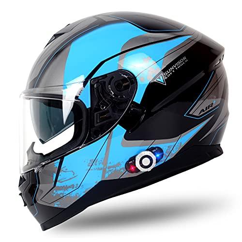 Bluetooth Motorcycle Helmet, FreedConn Bluetooth Helmets Intercom Communication Range...