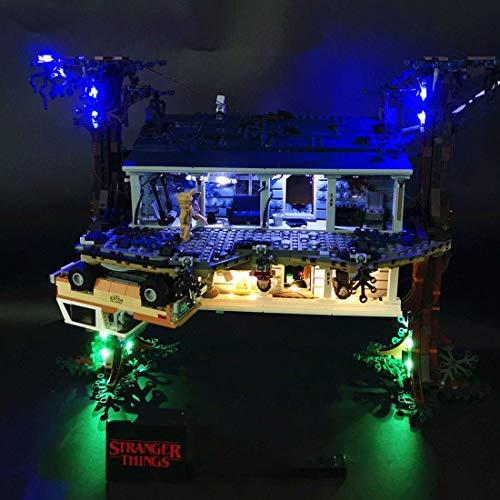 YZHM Kit de iluminación LED Agregue el complemento para Lego Stranger Las Cosas, la al revés 75810, el Conjunto de Luces LED actualizado Compatible con Lego 75810 (no Incluye el Modelo Lego)