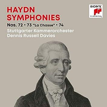 "Haydn: Symphonies / Sinfonien Nos. 72, 73 ""La Chasse"", 74"