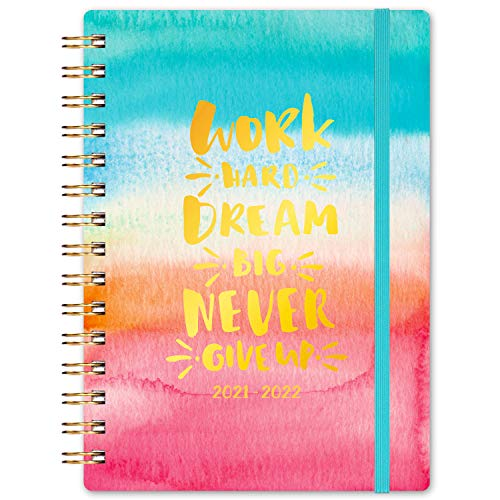 """2021-2022 Planner - Academic Planner from July 2021 to June 2022, 6.3""""x 8.4"""", Monthly Tabs & Inner Pocket, Flexible Colorful Hardcover with Strong Twin-Wire Binding"""